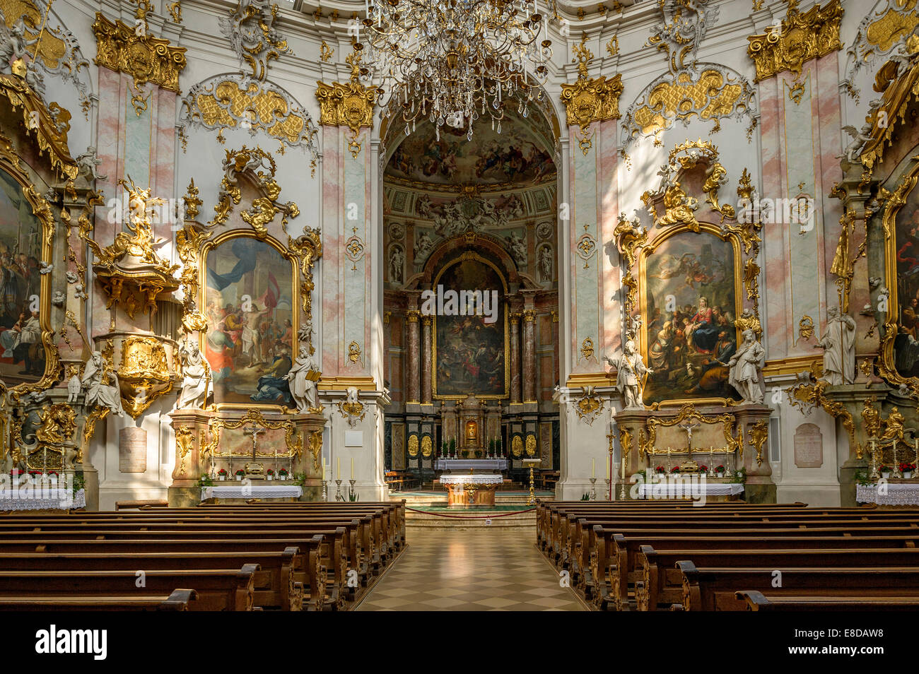 Nave and choir baroque church of the assumption of st for Baroque style church