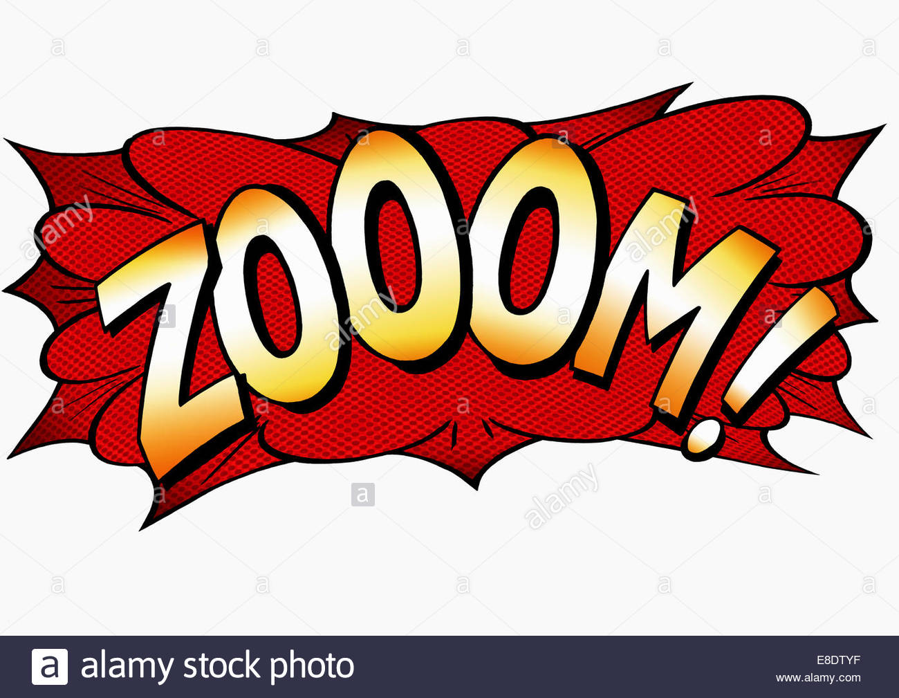 Zoom Comic Book Text Sound Effect Stock Photo 74063683