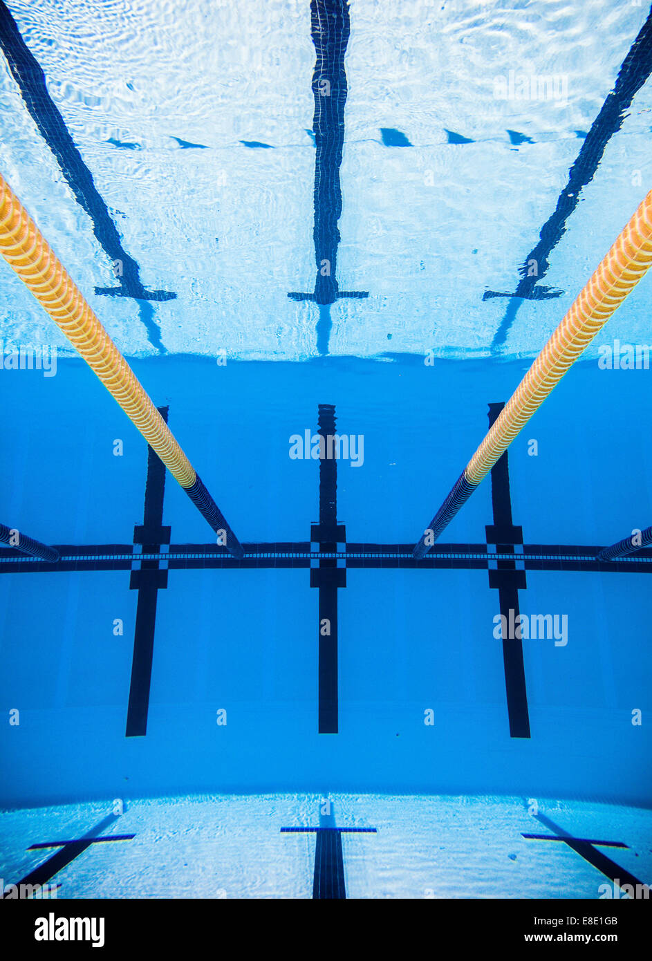 empty 50m olympic outdoor pool and dividing lines from underwater - Olympic Swimming Pool Underwater