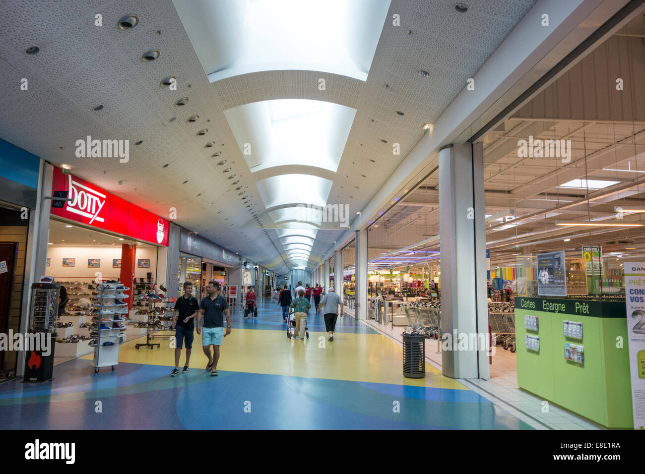 geant casino supermarket in shopping mall in montpellier herault stock photo royalty free