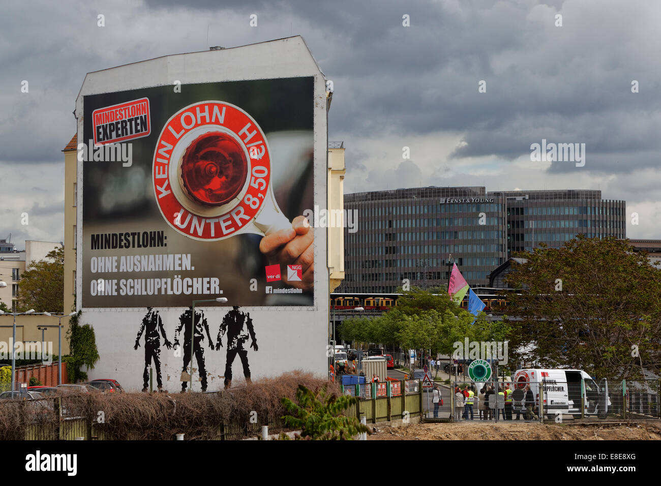 Minimum Berlin berlin germany poster minimum wage without exception stock photo