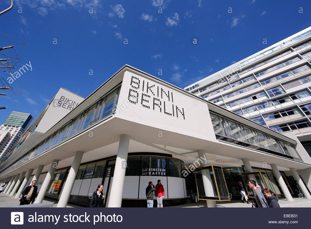 Berlin germany the bikini house as a shopping mall in budapest street
