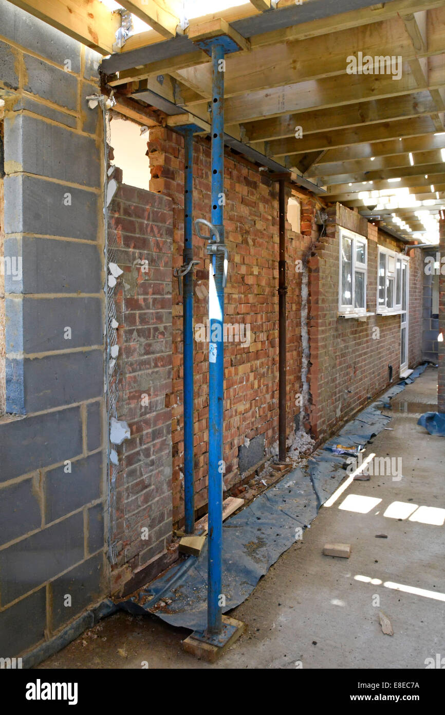 House Extension Work Acrow Props Support Structural Steel