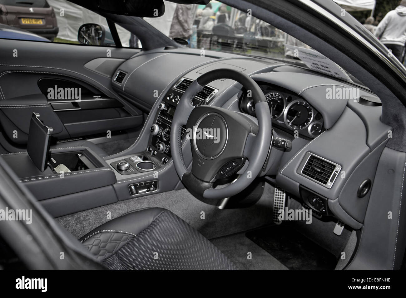 interior view of a 2014 aston martin rapide s supercar. Black Bedroom Furniture Sets. Home Design Ideas
