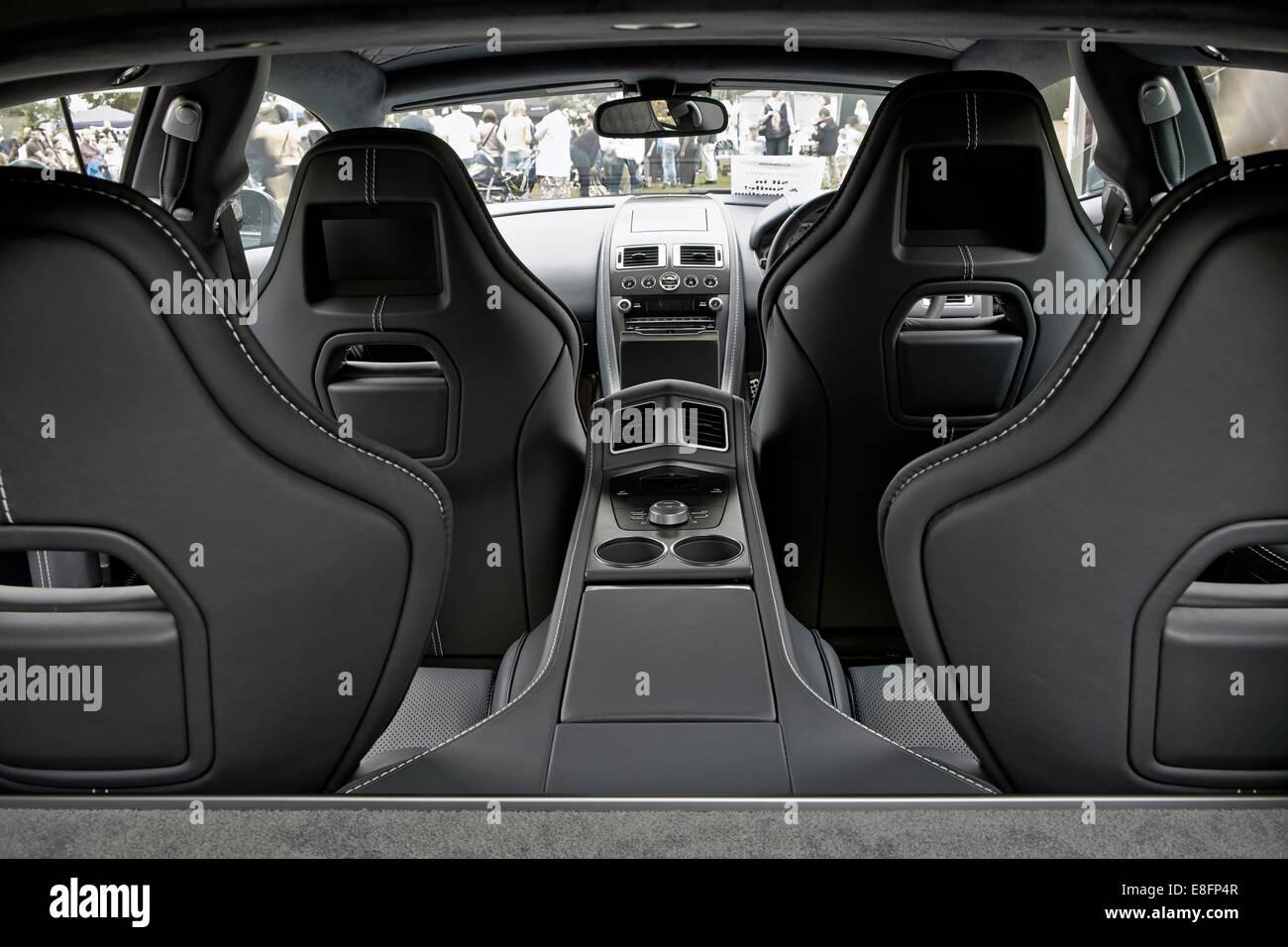 Rear View Of The Interior Of A Aston Martin Rapide S Supercar