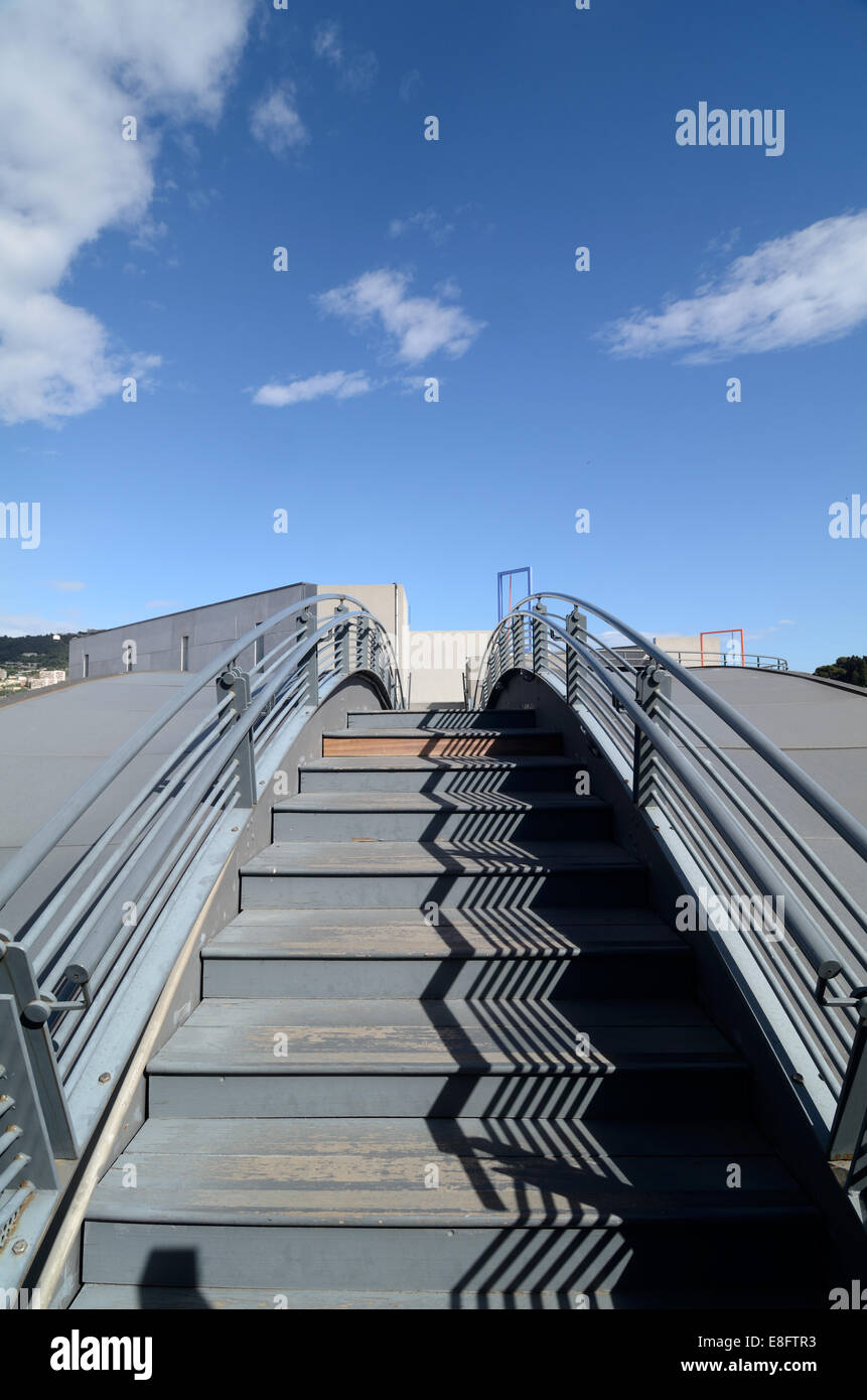 Metal Steps Stairs Or Staircase On Roof Terrace Of The Museum Of Modern Art  MAMAC Nice France