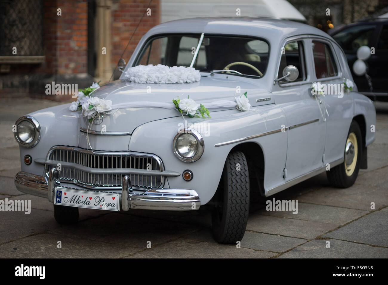 Warszawa M20 Pobieda vintage car Stock Photo, Royalty Free Image ...