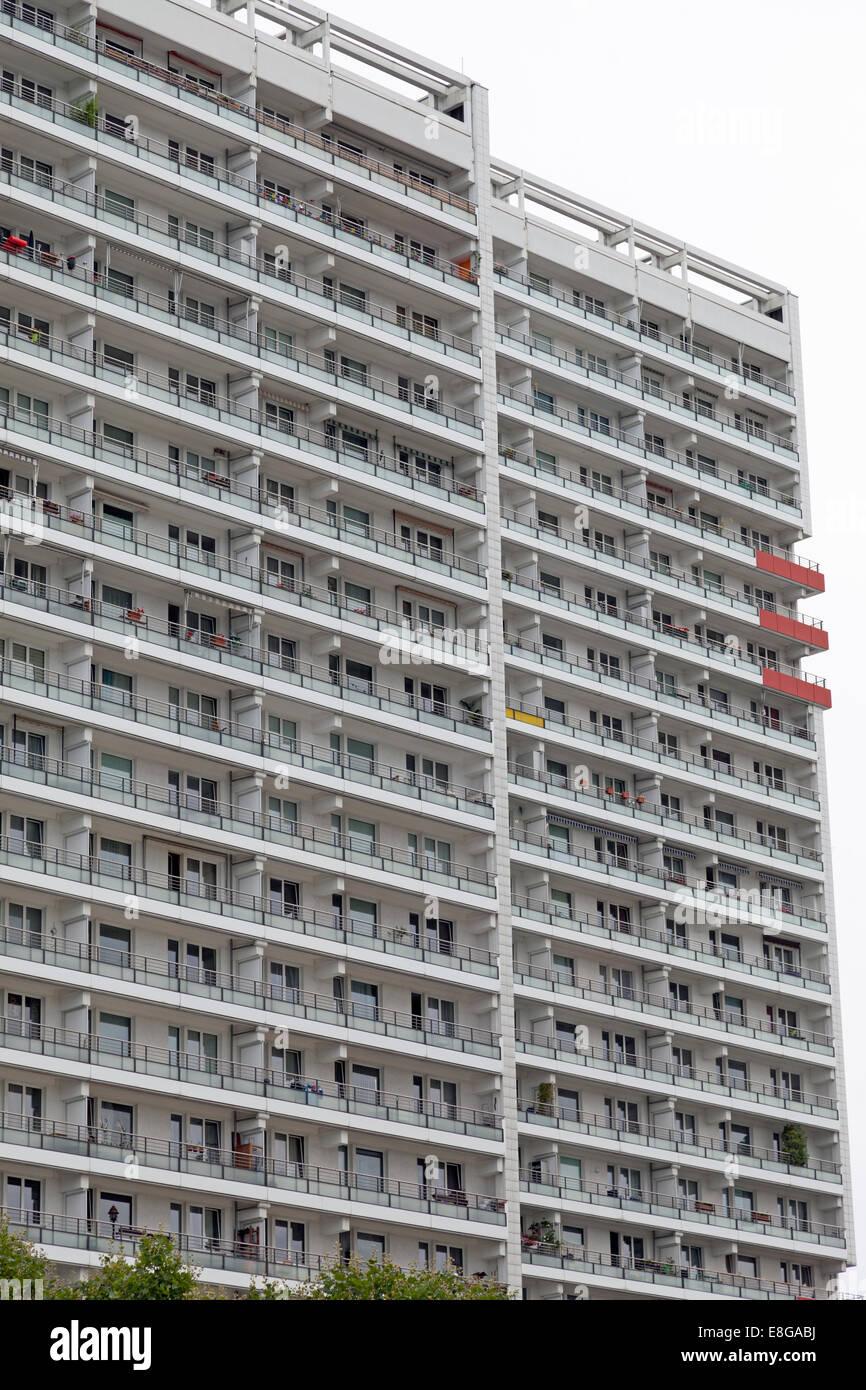 Modern Apartment Building Facade facade of modern apartment buildings in berlin, germany stock