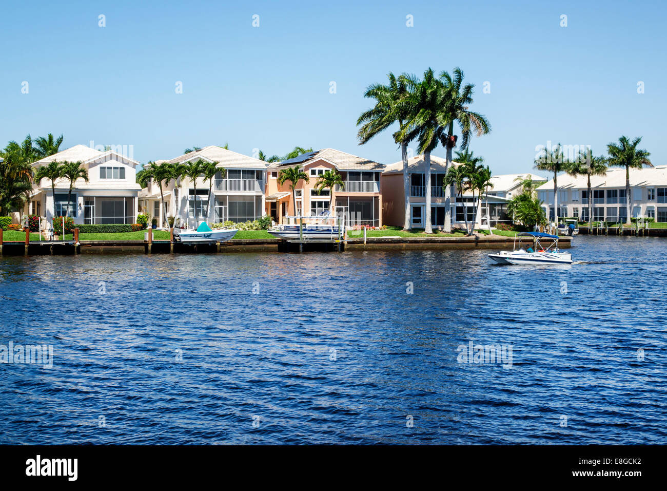 florida houses on the water. naples florida port of the islands resort everglades faka union canal water waterfront houses homes boats on