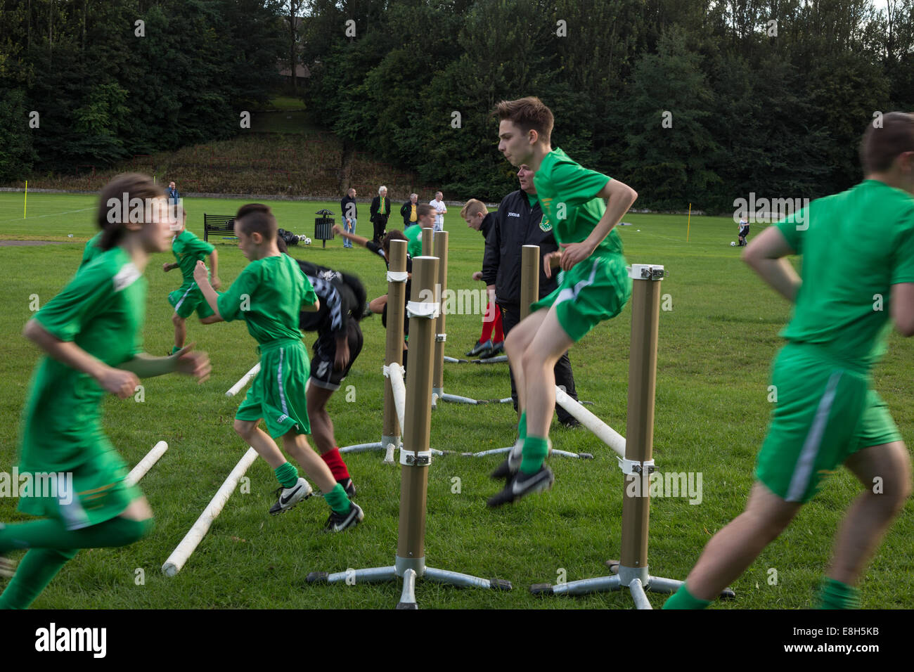 Training session at the Jimmy Johnstone Academy in Cathkin Park