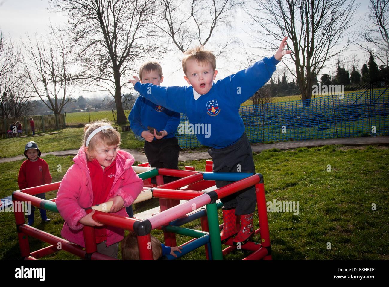 Children playing in the school playground
