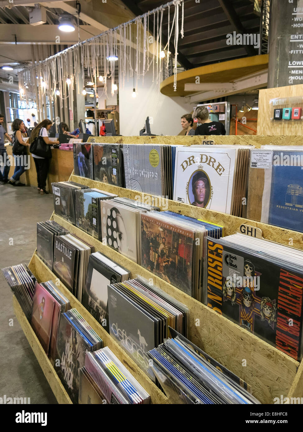 Vinyl Records Display Shelves Urban Outfitters Store At