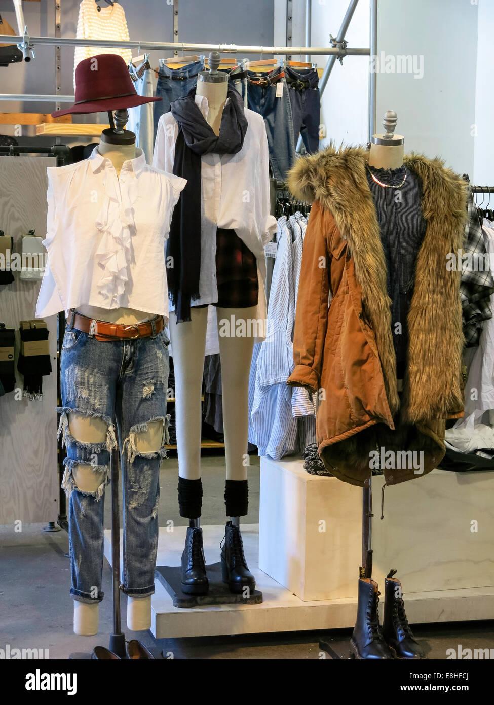 Women's Clothing Display, Urban Outfitters Store at Herald ...