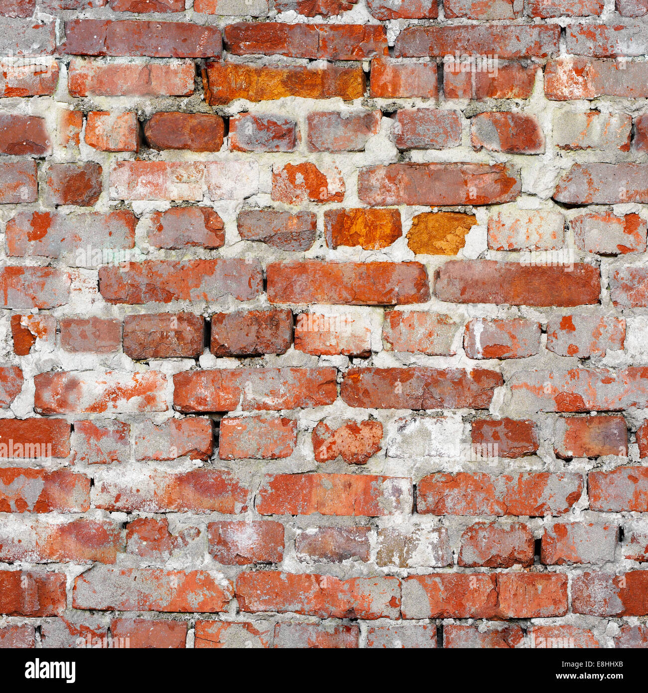 Seamless Texture Of An Old Red Brick Wall Grunge Architecture Pattern