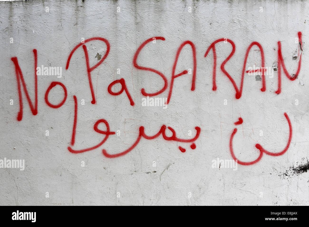 no pasaran graffiti in tunis stock photo 74168274 alamy