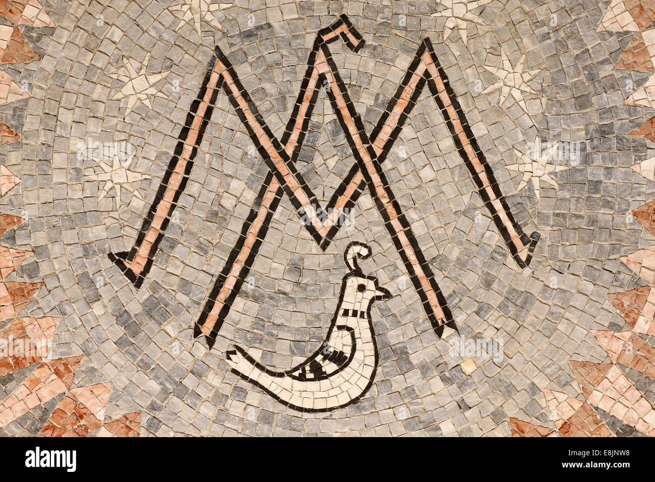 Basilica of the annunciation the letter m symbol of the virgin the letter m symbol of the virgin mary biocorpaavc Image collections