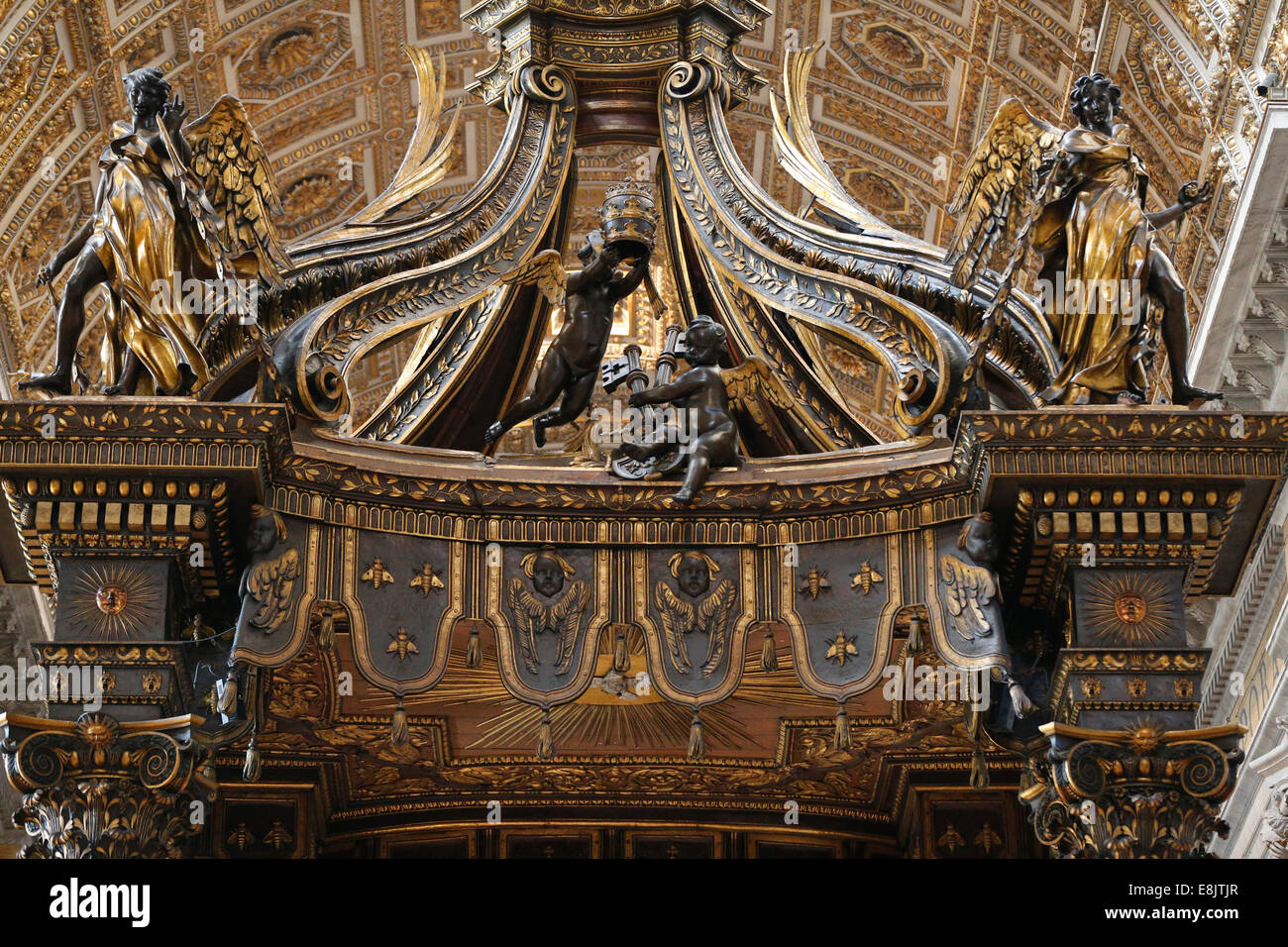 The Altar Of The Chair Of Saint Peter Baldacchino