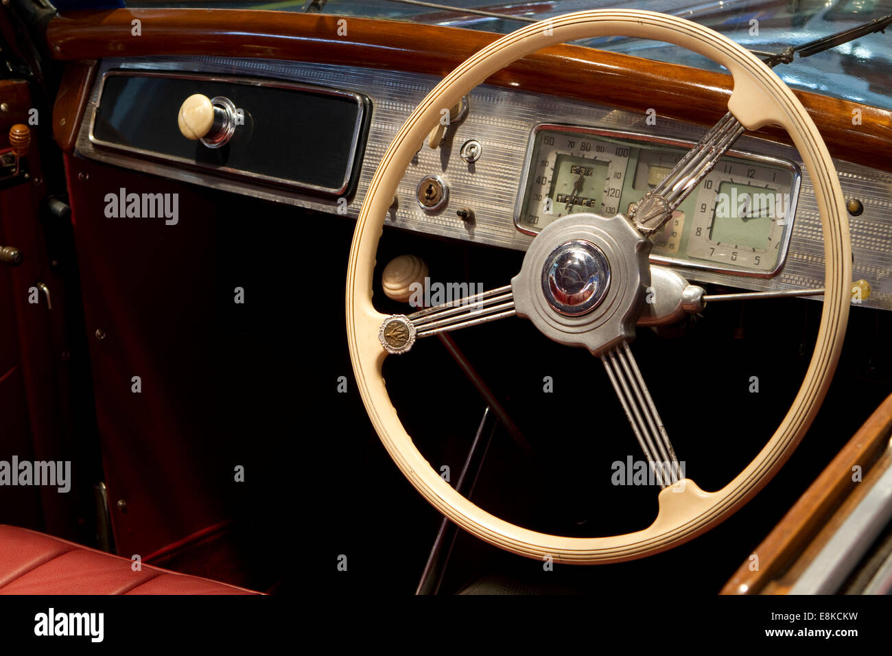 Dashboard and steering wheel of a 1939 lancia aprilia cabriolet dashboard and steering wheel of a 1939 lancia aprilia cabriolet vanachro Image collections