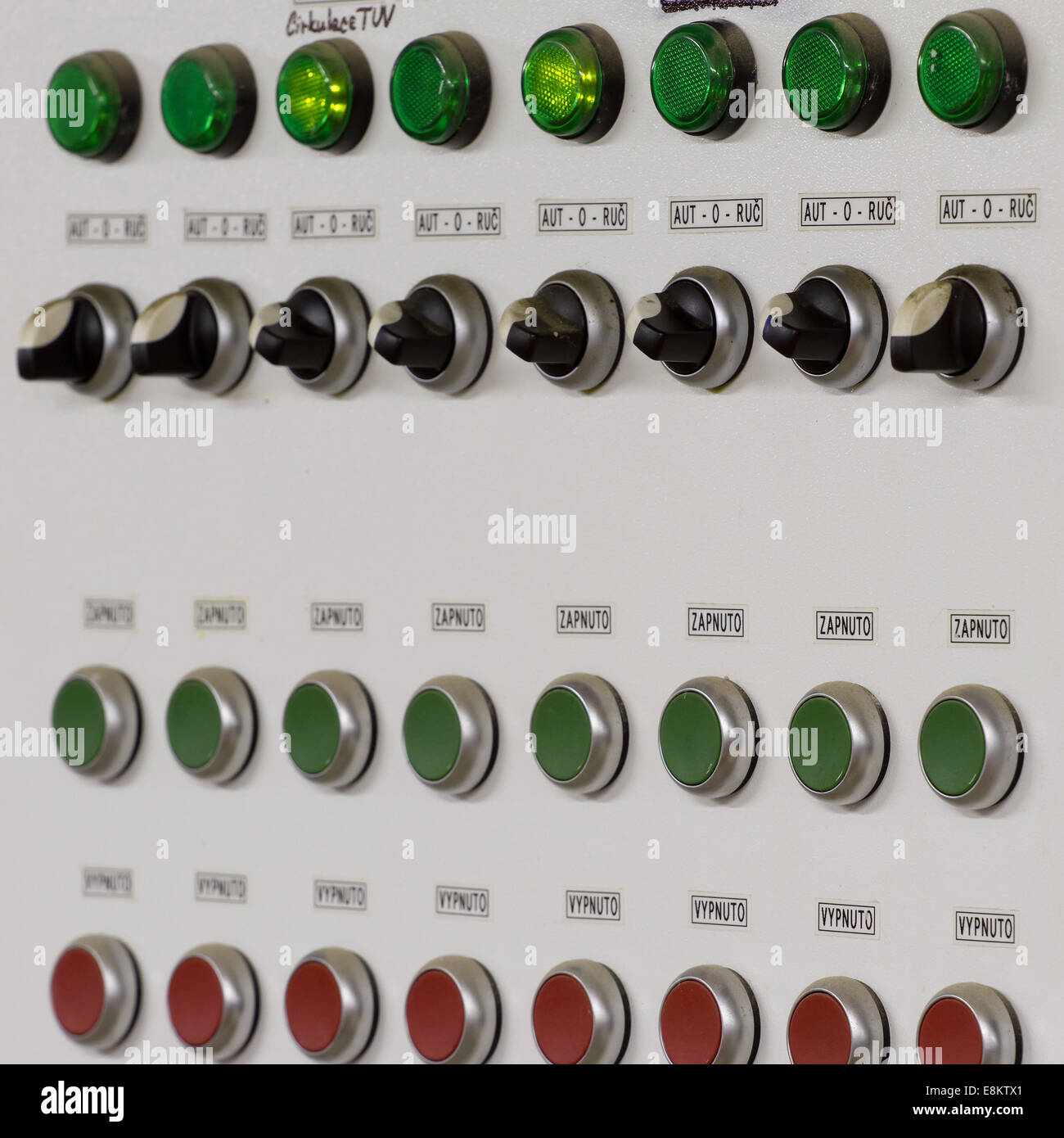 Old Control Panel Levers : Control panel with buttons and levers stock photo royalty