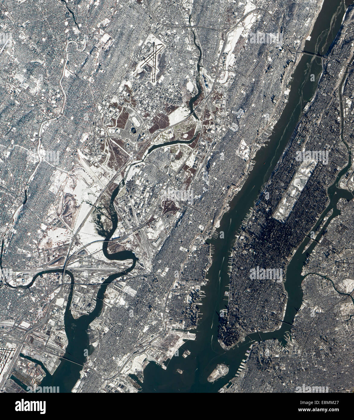 January Satellite View Of East Rutherford New Jersy - World satellite map 2014