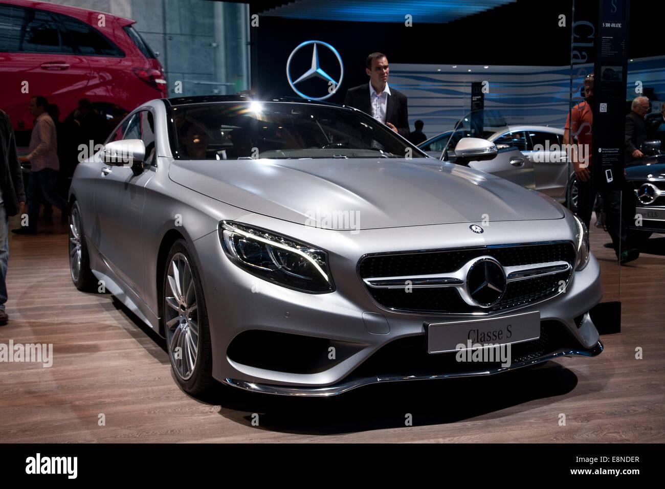 Mercedes S Class Luxury German Car Paris Motor Show Mondial De