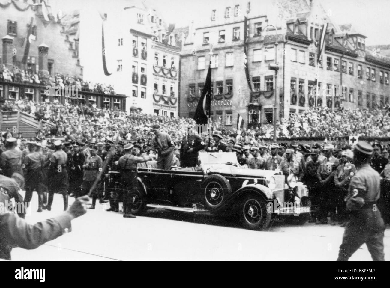 nuremberg rally 1933 in nuremberg germany adolf hitler reviews an stock photo royalty free. Black Bedroom Furniture Sets. Home Design Ideas