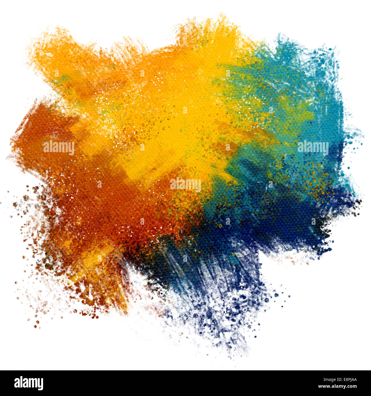Colorful paint splash on watercolor paper background Stock ...