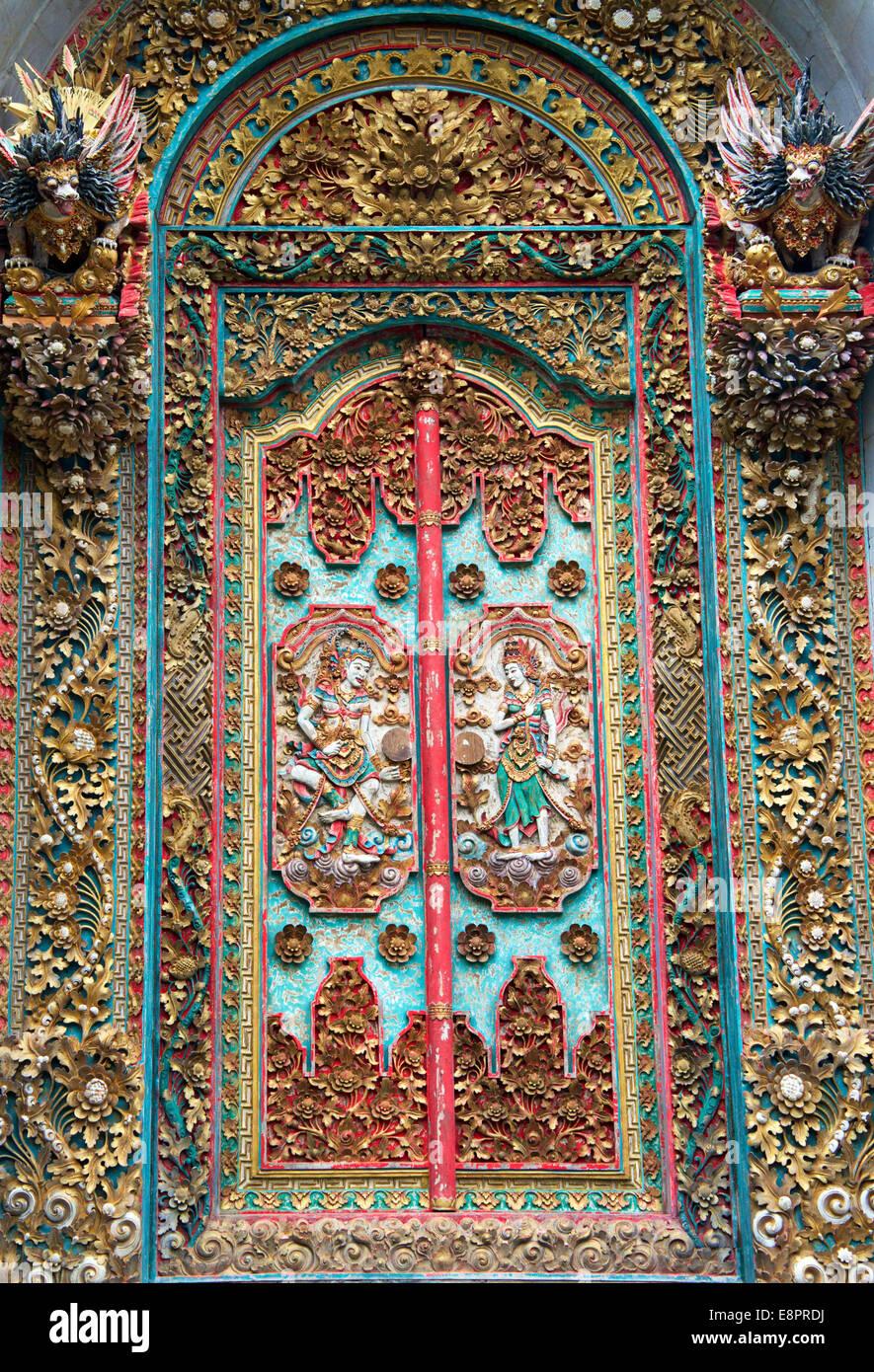Ornate carved wooden door Ubud Bali Indonesia & Ornate carved wooden door Ubud Bali Indonesia Stock Photo Royalty ... Pezcame.Com