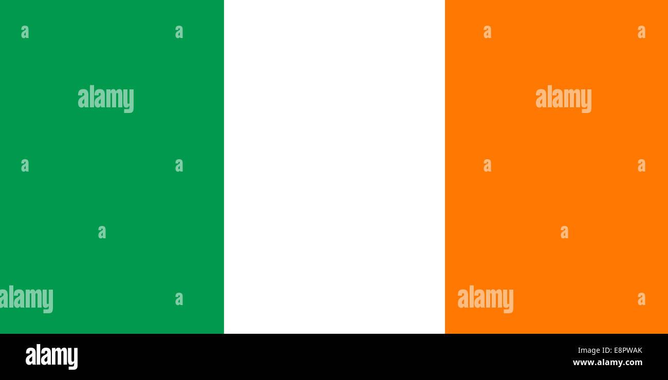 flag of ireland irish flag true rgb and proportions stock photo