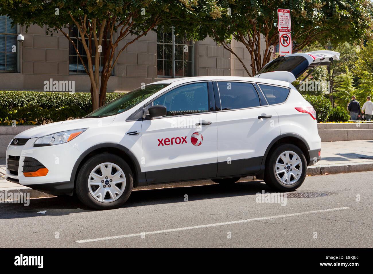 Xeroxpany Service Vehicle  Washington, Dc Usa  Stock Image