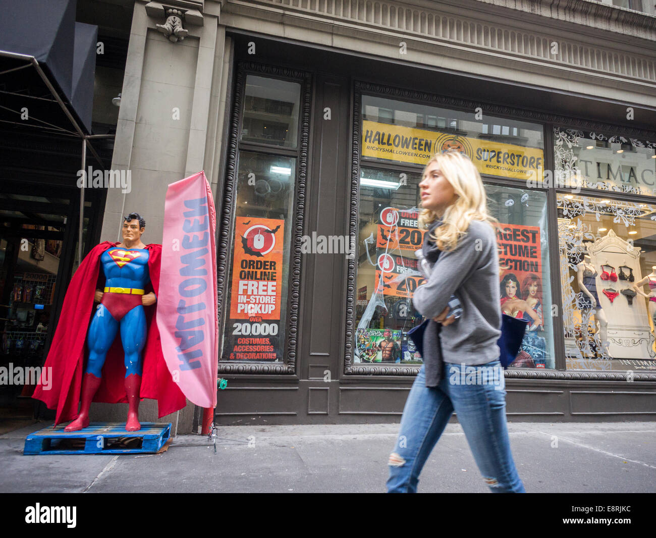 A Ricky's Halloween Superstore pop-up in New York Stock Photo ...
