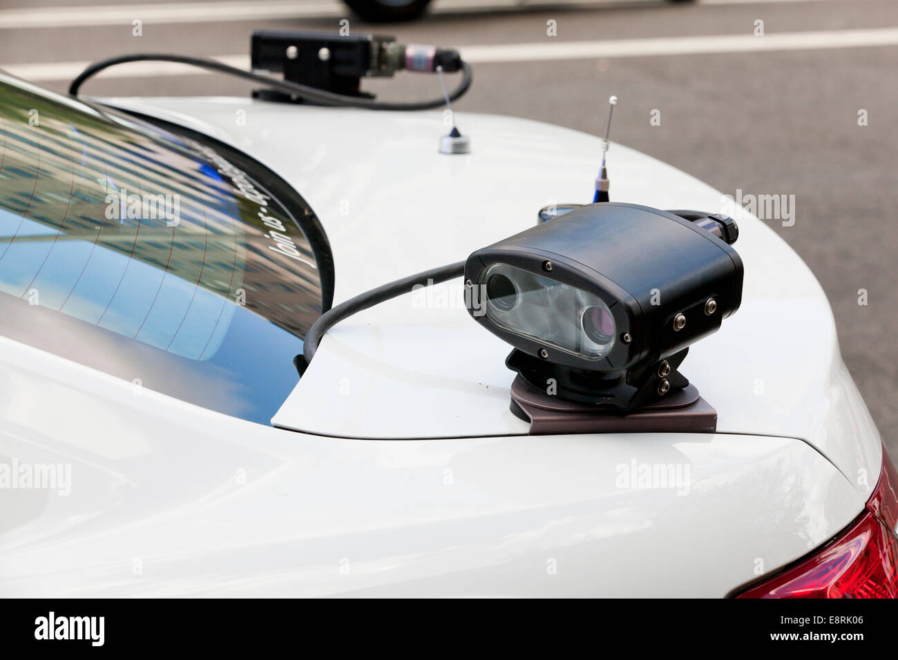 Automatic License Plate Recognition Camera On Back Of
