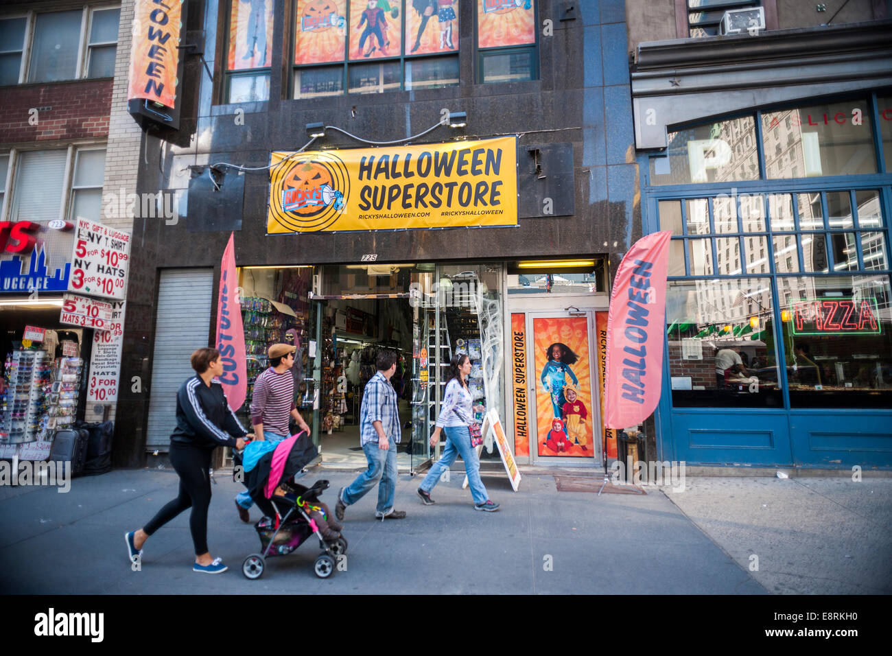 A Ricky's Halloween Superstore pop-up in midtown in New York Stock ...