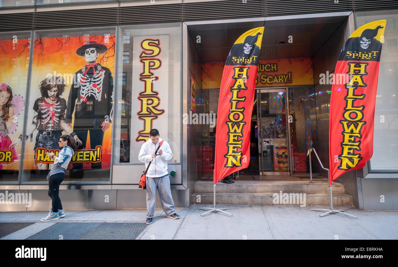 The Spirit Halloween pop-up store is seen in the Chelsea ...