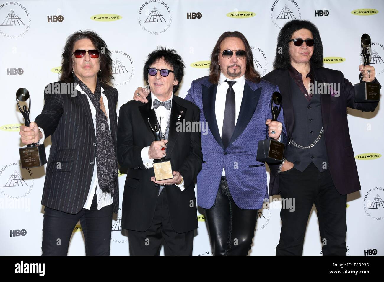 29th annual rock and roll hall of fame induction ceremony at barclays center of brooklyn featuring paul stanley peter criss ace frehley and gene simmons