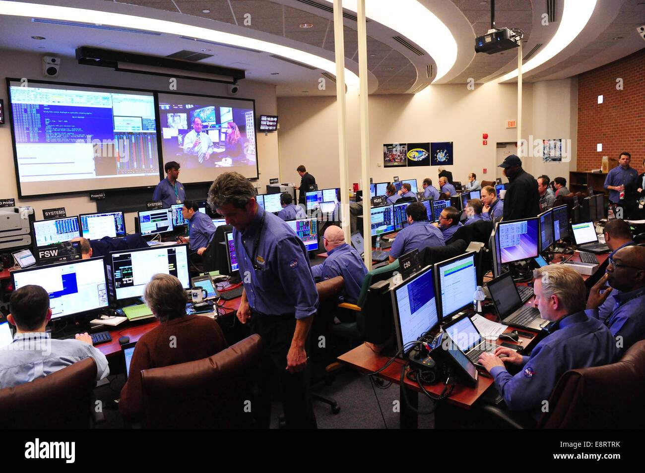 One of the control rooms at NASA's Goddard Space Flight ...