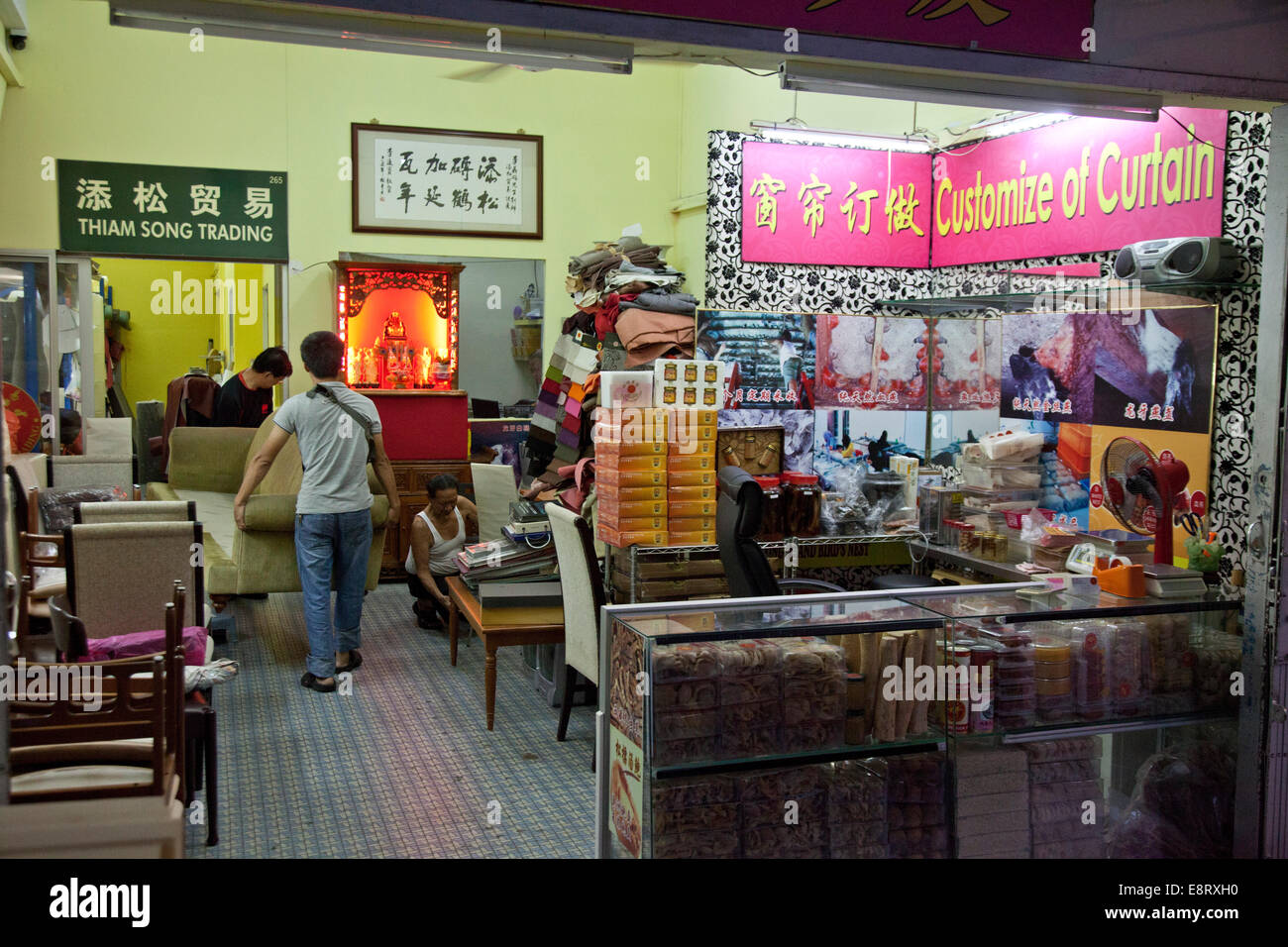 Furniture And Upholstery Shop In Chinatown, Singapore