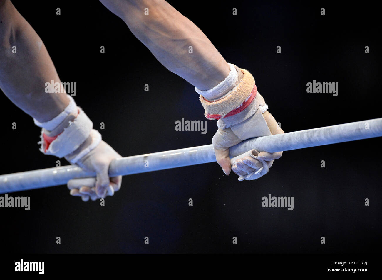 Hands Of A Gymnast Competing On The High Bar 31st DTB Cup Gymnastics World Baden Wrttemberg Germany