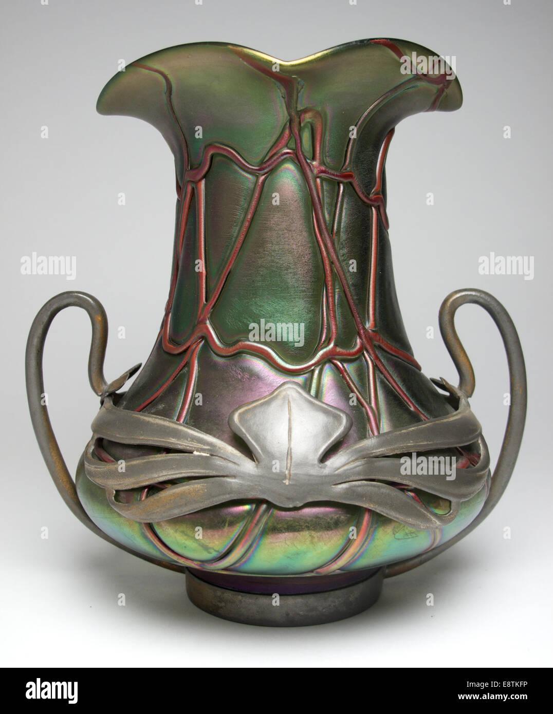 Art nouveau pallme konig glass vase with pewter mounts circa 1900 art nouveau pallme konig glass vase with pewter mounts circa 1900 reviewsmspy