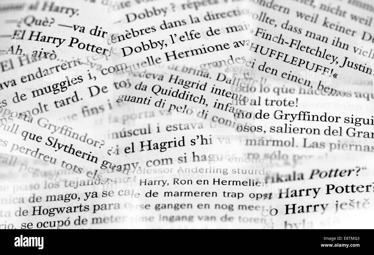 Harry Potter Book Lengths Pages : Detail from pages of foreign harry potter books czech
