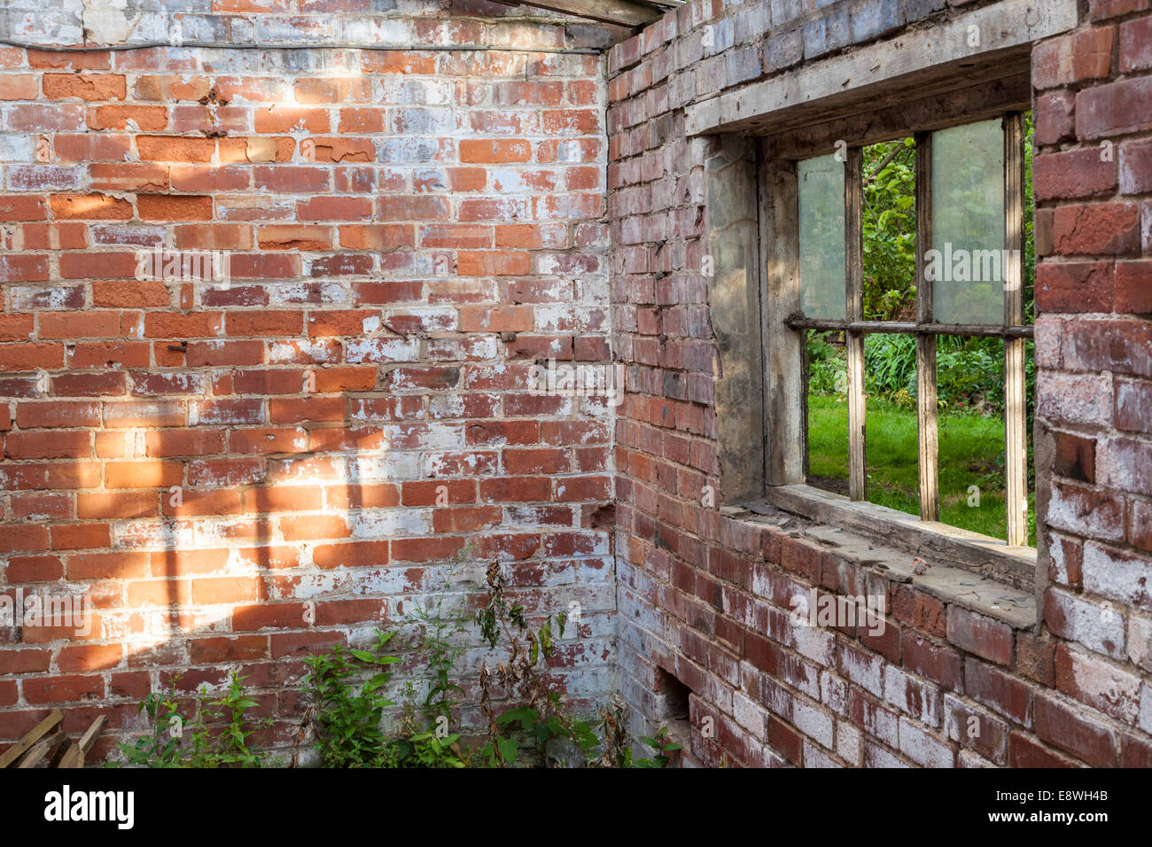 Old Interior Window Walls : Sunlight through an old window falling on to interior