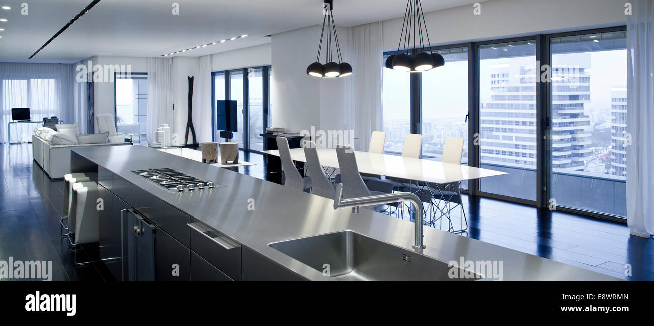 Open Plan Kitchen Living Room Open Plan Kitchen Dining And Living Room Of Barak House Israel