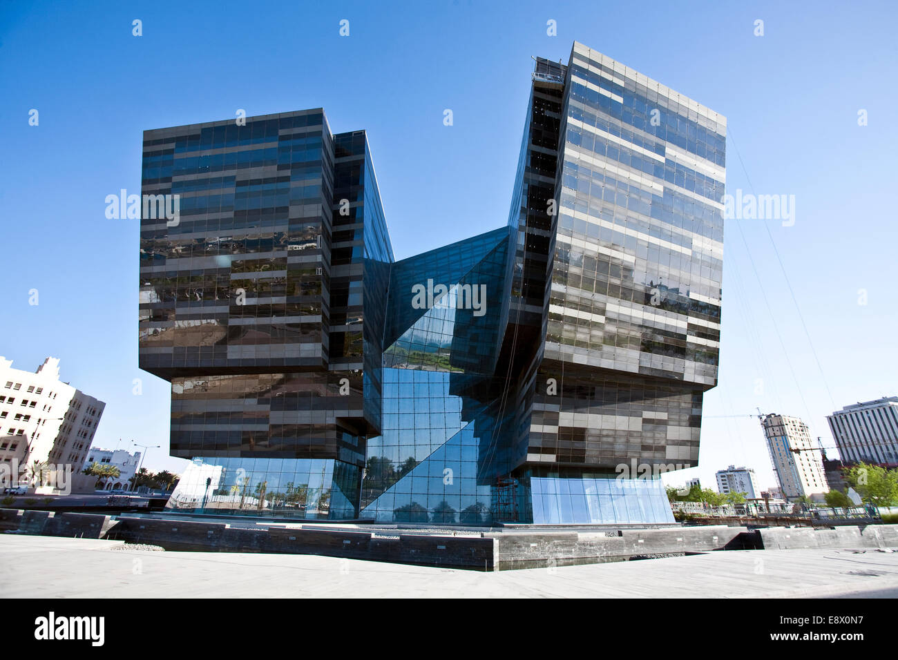 atelier jean nouvel building on the cornice doha city centre qatar stock photo royalty free. Black Bedroom Furniture Sets. Home Design Ideas
