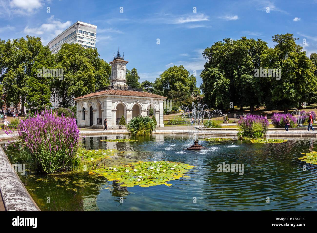 Pin italian gardens in kensington hyde park london on for Jardines italianos