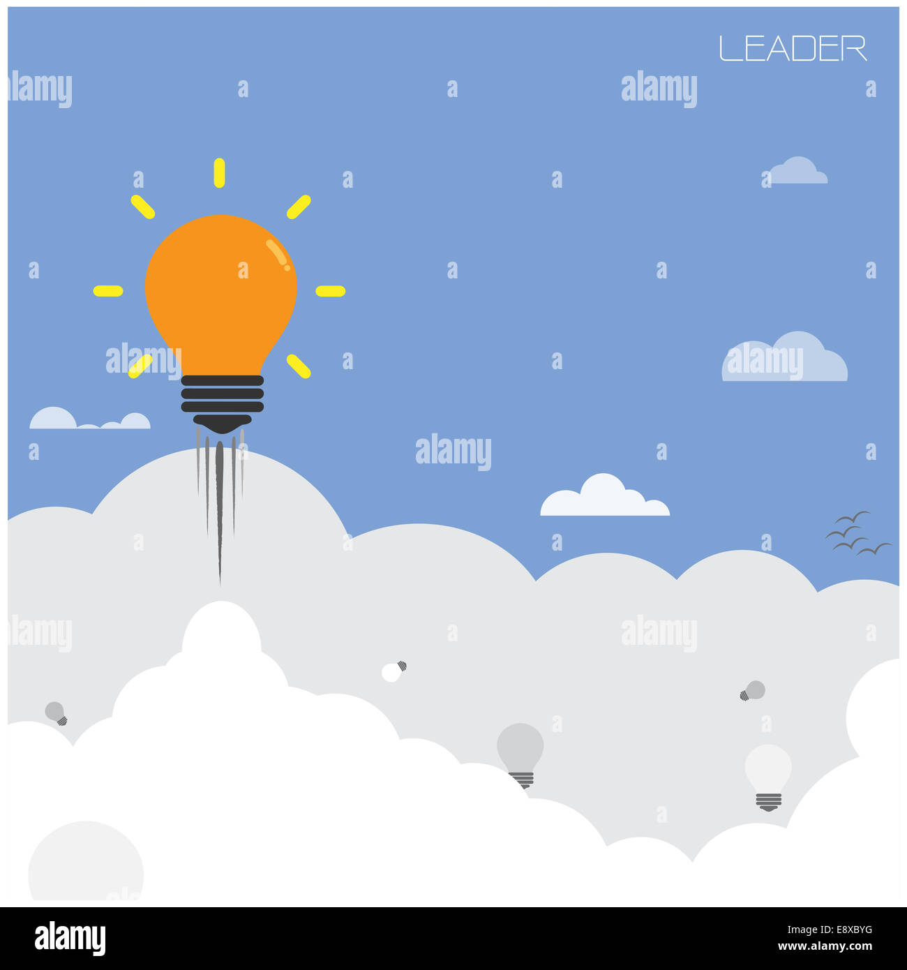 Poster design education - Stock Photo Creative Light Bulb With Blue Sky Background Design For Poster Flyer Cover Brochure Leader And Education Concept Business Idea