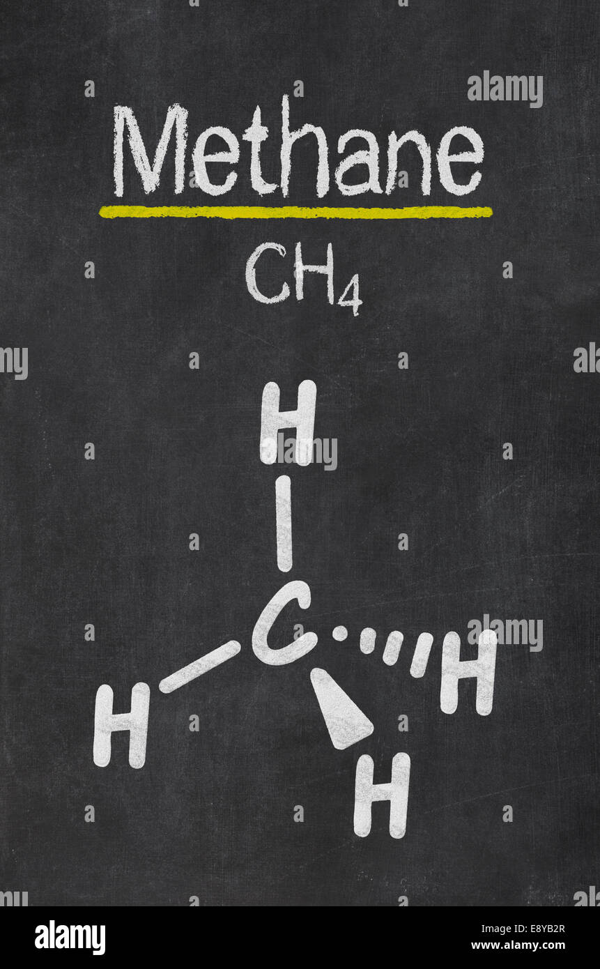 Blackboard with the chemical formula of methane stock photo blackboard with the chemical formula of methane biocorpaavc Gallery