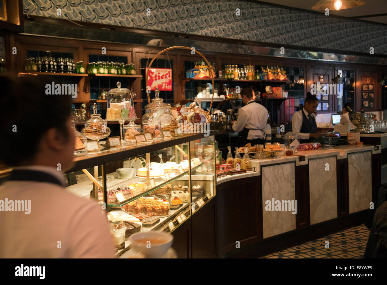 Cafe in the vieux port terra vecchia bastia corsica france stock - The Delaunay Cafe On The Aldwych In London Uk Stock Image