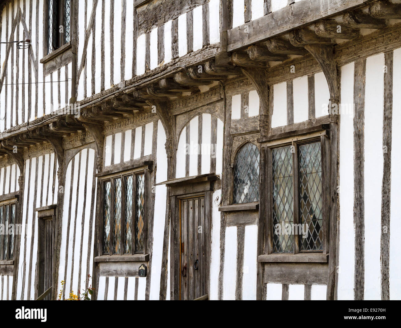 Old english timber-framed Tudor house in the village ...