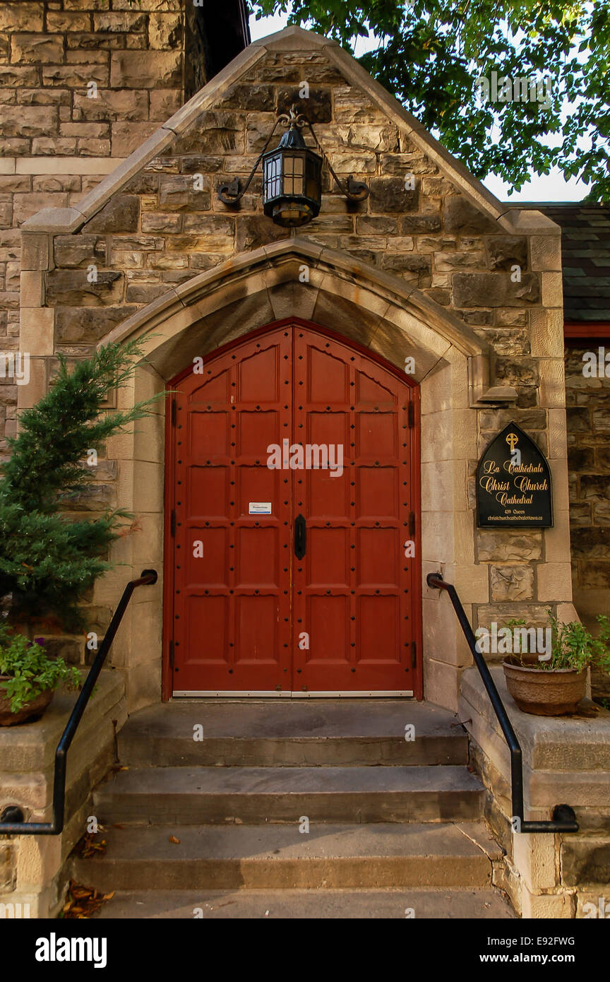 Stock Photo - The red door is an entrance to Christ Church Cathedral Ottawa Ontario Canada & The red door is an entrance to Christ Church Cathedral Ottawa ... Pezcame.Com