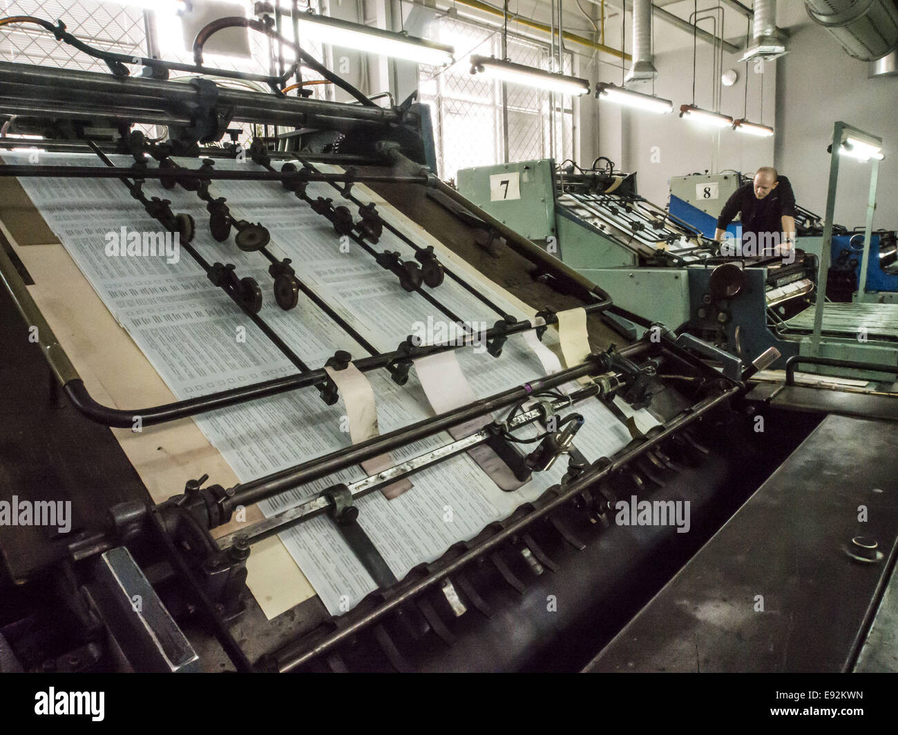 Oct 17 2014 print of ballots produced in the pressroom of the state